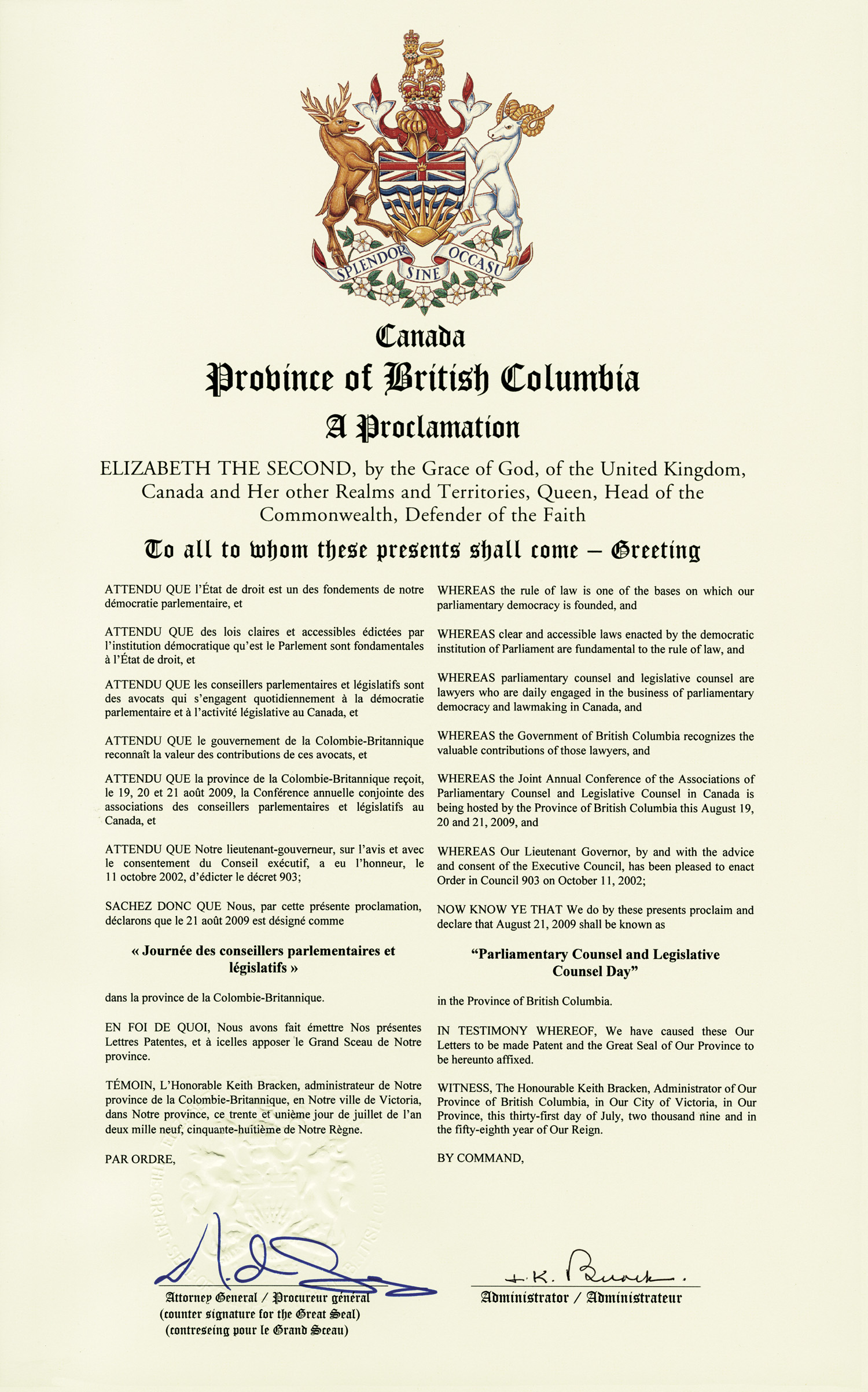 Proclamation Oic Resume No 13
